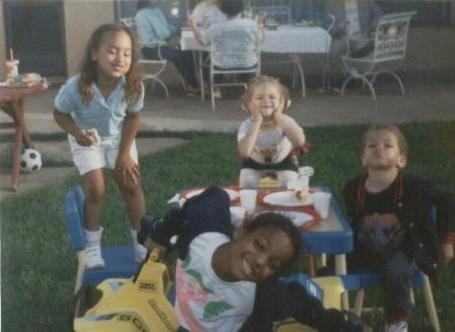Kimberly Lola tbt cousins