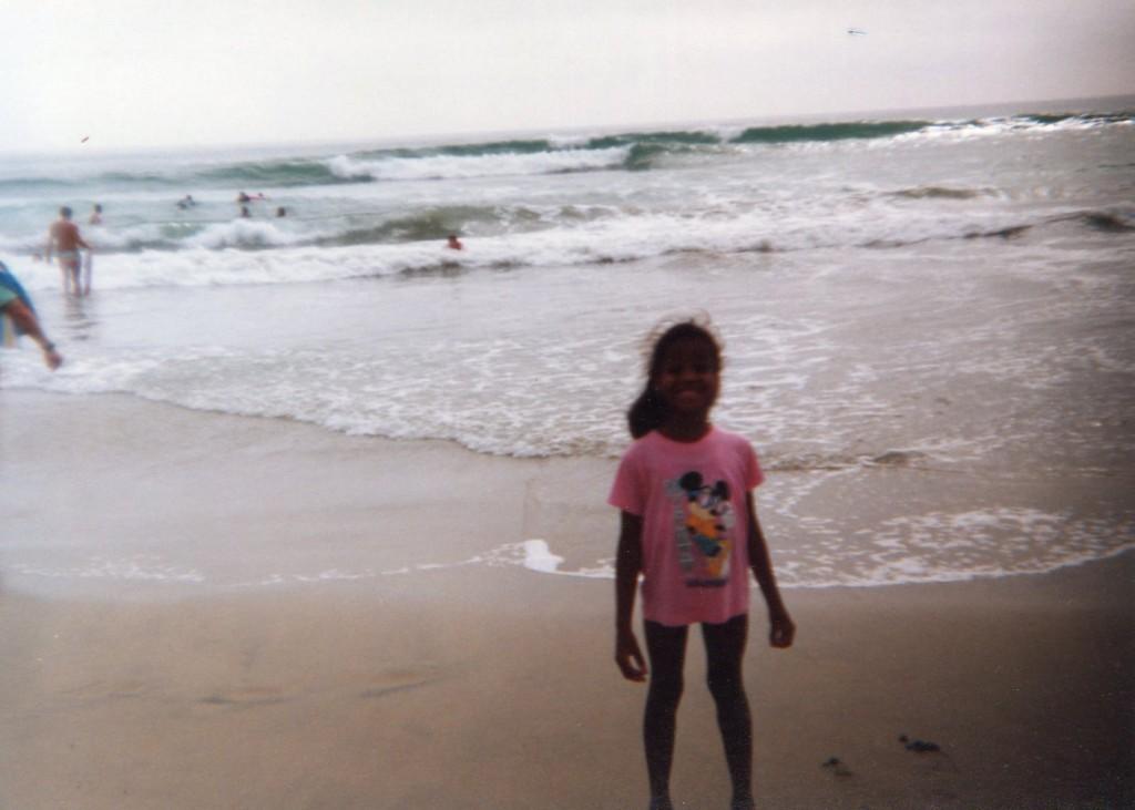Kimberly Lola tbt beach