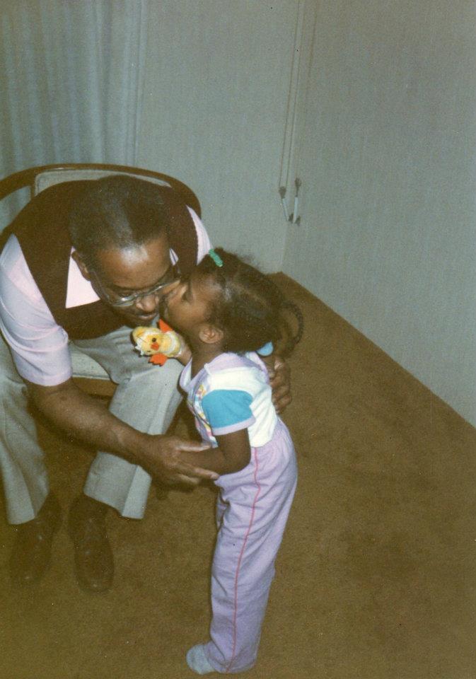 Kimberly Lola with Grandpa Oliver