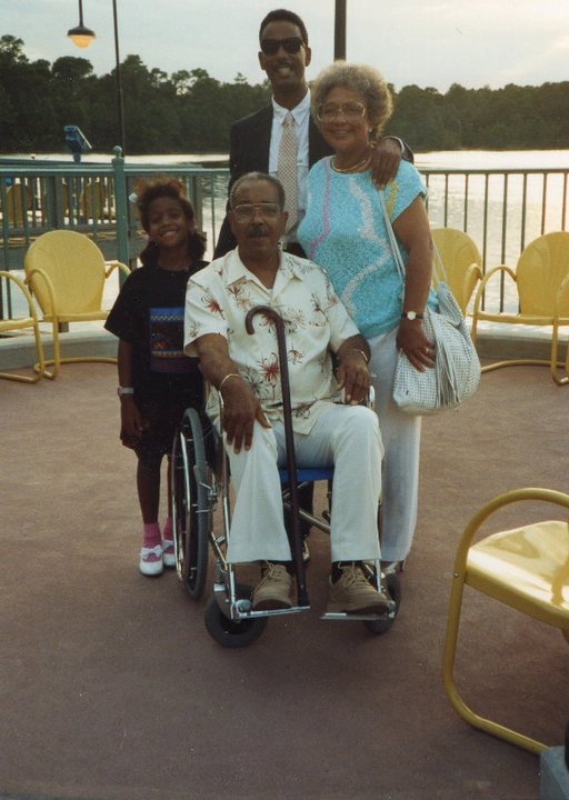 Kimberly Lola with grandparents and uncle florida